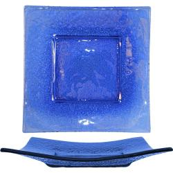 ITI - IGPB-10 - 10 in Arctic Glacier™ Square Blue Glass Plate image