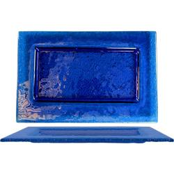 ITI - IGPB-12 - 12 in x 8 Arctic Glacier™ Rectangular Blue Glass Plate image