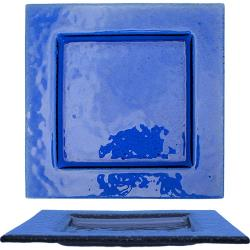 ITI - IGPB-975 - 9 3/4 in Arctic Glacier™ Square Blue Glass Dish image