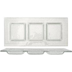 ITI - IGPC3-11 - 11 in x 4 1/2 Arctic Glacier™ Clear Glass Three Compartment Plate image