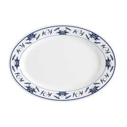 GET Enterprises - M-4010-B - Water Lily 16 1/4 in Oval Platter image