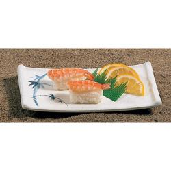 "Thunder Group - 0011BB - 8 1/2 x 4 3/4"" Blue Bamboo Sashimi Platter image"