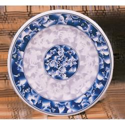"Thunder Group - 1016DL - 15 1/2"" Blue Dragon Round Plate image"
