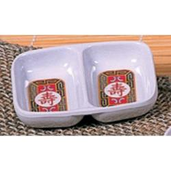 "Thunder Group - 1102TR - 2 3/4"" X 3 3/8""Longevity Twin Sauce Dish image"