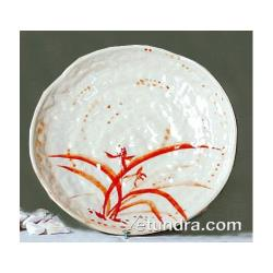 "Thunder Group - 1814 - 14"" Gold Orchid Round Platter image"