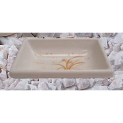 "Thunder Group - 1901GD - 3 3/4"" Gold Orchid Square Sauce Dish image"