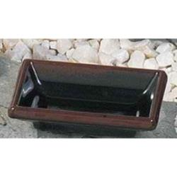 "Thunder Group - 1901TM - 3 3/4"" Tenmoku Square Sauce Dish image"