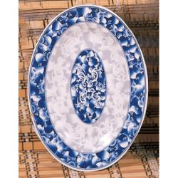 "Thunder Group - 2009DL - 9"" x 6 5/8"", Blue Dragon Oval Platter image"