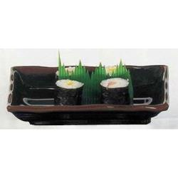"Thunder Group - 2416TM - 16"" Tenmoku Wave Sashimi Plate image"