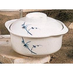 Thunder Group - 3503BB - 12 oz. Blue Bamboo Miso Soup Bowl image