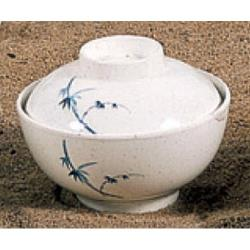 Thunder Group - 3506BB - 10 oz. Blue Bamboo Special Bowl w/ Lid image