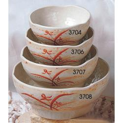 Thunder Group - 3708GD - 40 oz. Gold Orchid Soup Bowl image