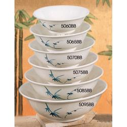 Thunder Group - 5065BB - 25 oz. Blue Bamboo Chinese Noodle Bowl image