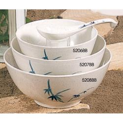Thunder Group - 5208BB - 45 oz. Blue Bamboo WEI Rice Bowl image