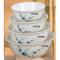 Thunder Group - 5308BB - 45 oz. Blue Bamboo Soba Bowl image