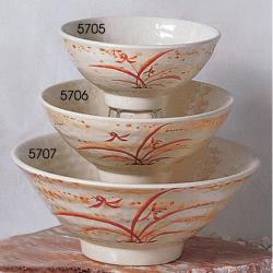 Thunder Group - 5705 - 9 oz. Gold Orchid Ochawan Rice Bowl image