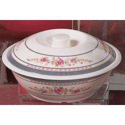 Thunder Group - 8010AR - 63 oz. Rose Serving Bowl w/ Lid image