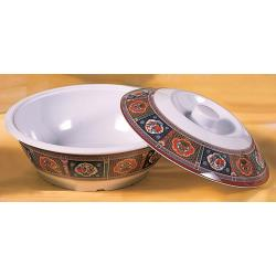 Thunder Group - 8010TP - 63 oz. Peacock Serving Bowl w/ Lid image