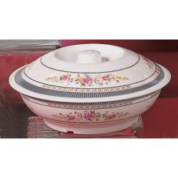 Thunder Group - 8011AR - 73 oz. Rose Serving Bowl w/ Lid image