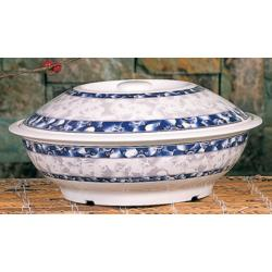 Thunder Group - 8011DL - 73 oz. Blue Dragon Serving Bowl image