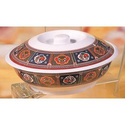 Thunder Group - 8011TP - 73 oz. Peacock Serving Bowl w/ Lid image