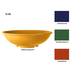 GET Enterprises - B-48-TY - Mardi Gras Tropical Yellow 1.9 qt Cereal Bowl image