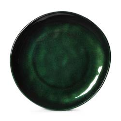 GET Enterprises - CS-10-CSG - 10 1/2 in Cosmo™ Green Irregular Melamine Coupe Plate image