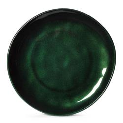 GET Enterprises - CS-9-CSG - 9 in Cosmo™ Green Irregular Melamine Coupe Plate image