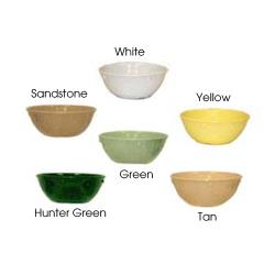 GET Enterprises - DN-310-Y - Supermel I Yellow 10 oz Nappie Bowl image