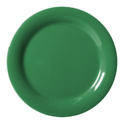 GET Enterprises - NP-6-FG - Mardi Gras Forest Green 6 1/2 in Narrow Rim Plate image