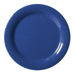 GET Enterprises - NP-6-PB - Mardi Gras Peacock Blue 6 1/2 in Narrow Rim Plate image