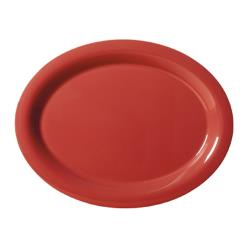 GET Enterprises - OP-950-CR - Harvest Cranberry 9 3/4 in Oval Platter image