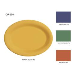 GET Enterprises - OP-950-MIX - Mardi Gras Mix 9 3/4 in Oval Platter image