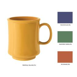 GET Enterprises - TM-1308-MIX - Mardi Gras 4 Color Mix 8 oz Stacking Mug image