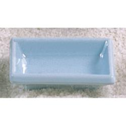 "Thunder Group - 1901 - 3 3/4"" x 2 1/2"" Blue Jade Square Sauce Dish image"