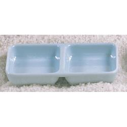 "Thunder Group - 1902 - 6"" x 3"" Blue Jade Square Twin Sauce Dish image"