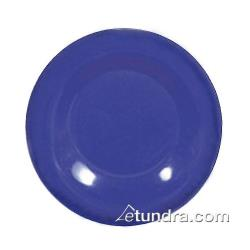 "Thunder Group - CR006BU - 6 1/2"" Blue Wide Rim Round Plate image"