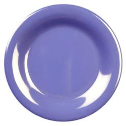 "Thunder Group - CR006BU - 6 1/2"" Purple Wide Rim Round Plate image"