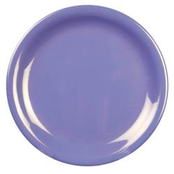 "Thunder Group - CR107BU - 7 1/4"" Purple Narrow Rim Round Plate image"