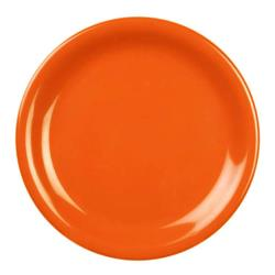 "Thunder Group - CR107RD - 7 1/4"" Burnt Orange Narrow Rim Round Plate image"