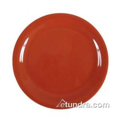 "Thunder Group - CR109RD - 9"" Red-Orange Narrow Rim Round Plate image"