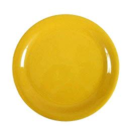 "Thunder Group - CR110YW - 10 1/2"" Yellow Narrow Rim Round Plate image"