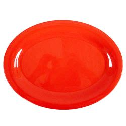 "Thunder Group - CR209PR - 9 1/2"" x 7 1/4"" Pure Red Platter image"
