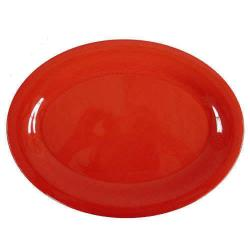 "Thunder Group - CR209RD - 9 1/2"" x 7 1/4"" Red-Orange Platter image"