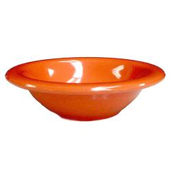 Thunder Group - CR5608RD - 8 oz Red-Orange Salad Bowl image