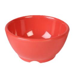 "Thunder Group - CR5804RD - 10 oz x 4 5/8""  Red-Orange Soup Bowl image"