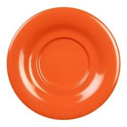 "Thunder Group - CR9303RD - 5 1/2"" Red-Orange Saucer for 7 oz Bouillon Cup image"