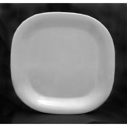 "Thunder Group - PS3008W - 8 1/4"" Passion White Round Square Plate image"