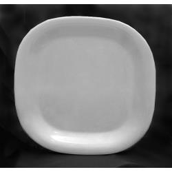 "Thunder Group - PS3014W - 14"" Passion White Round Square Plate image"