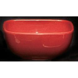 Thunder Group - PS3103RD - 4 oz. Passion Red Square Bowl image